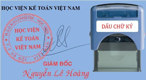 Đóng dấu chữ ký khắc sẵn lên hóa đơn chứng từ kế toán có được không?